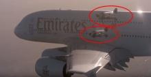 ท้าตาย!! 2มนุษย์ไอพ่นเจ็ท โชว์บินขนาบเครื่องบินใหญ่สุดในโลก