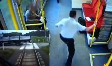 พนักงานขับรถไฟวิ่งเตือนผู้โดยสาร ก่อนขบวนรถพุ่งชนรถบรรทุก
