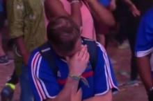 แชร์ว่อนเน็ต !! เจ้าหนูแฟนบอลฝอยทองปลอบหนุ่มแฟนบอลน้ำหอมยืนร่ำไห้ หลังชวดบอลยูโร