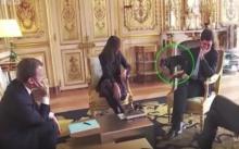 อ้าว!!! รับแขกหรอ? เผยคลิปวินาทีสุนัขผู้นำฝรั่งเศสฉี่โชว์ในห้องที่ทำเนียบ (คลิป)