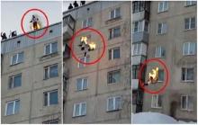 หนุ่มพิเรนทร์จุดไฟเผาตัวเองแล้วโดดตึก 10 ชั้น สุดท้าย...?