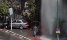 หนุ่มคนนี้ทำอะไร? หลังเจอเพราะรถชน