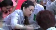 ฟ้าหญิงจุฬาภรณฯ ทรงปฐมพยาบาล พอ.สว. ที่เป็นลมต่อหน้าพระพักตร์