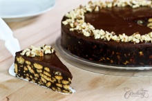 No-Bake ช็อกโกแลตเค้กจากบิสกิตกรุบกรอบ