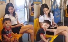 หนูน้อยจอมกวน หนีแม่มานั่งข้างสาว ตามก็ไม่กลับ งานนี้ยอมโดนตี!! (คลิป)