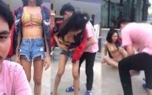 แชร์ว่อน!! หนุ่มเห็นแฟนใส่กางเกงสั้นเล่นสงกรานต์ ฉุนจับถอดต่อหน้า จุดไฟเผาทันที!! (คลิป)
