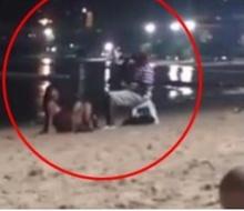 ว่อนเน็ต!! สาวไทยเมาจัด นั่งยั่วนิโกรริมหาดไม่แคร์ใคร!