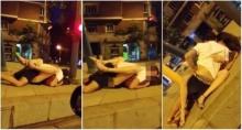 โผล่อีกคลิปฉาว หนุ่มสาวมีเซ็กซ์กันกลางวงเวียนริมถนน