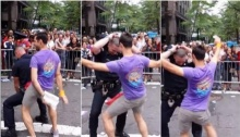 แฮปปี้ดี๊ด๊า!! ตำรวจมะกัน แดนซ์คู่เกย์หนุ่ม ฉลองวันแห่งชัยชนะของความรัก