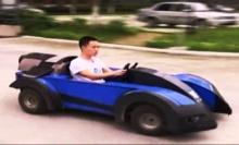 สุดยอดเลย!! หนุ่มใช้เวลา 2 เดือน สร้างรถสุดเจ๋งขับเฉย!!