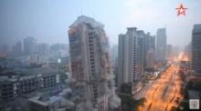 วินาทีชัด ๆ จีนระเบิดตึก 26 ชั้น พังราบใน 13 วินาที