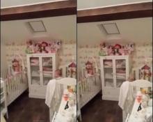 คุณพ่อแอบถ่าย! ลูกแฝดเล่นจ๊ะเอ๋กัน ไม่ยอมนอน