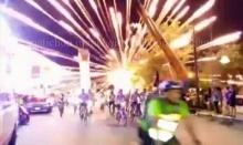 """วินาที!! พลุระเบิด ขณะเปิดงานปั่นจักรยานภูเก็ตฟีเวอร์ """"ไนท์ไรด์"""""""