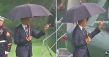 โอบามาโชว์แมนในวันฝนตก ท่านผู้นำทำอะไร? ทำไมคลิปนี้ถึงแชร์กันสนั่น?