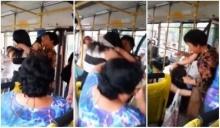 อั้ยหยาา!!มนุษย์ป้า บู๊กับหญิงสาวบนรถเมล์ ทั้งจิกกระชากผมล็อกคอ