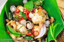 ยำหอยนางรม Spicy Oyster Salad