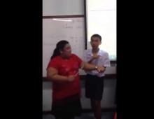 ลีลาเยอะ!! เมื่อคุณครูสุดเฮี๊ยบกำลังจะลงโทษนร.สุดกวน กว่าจะได้ตี!!!