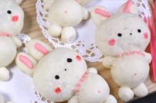 Bunny shaped bread กระต่ายน้อยน่ารัก