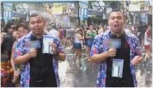 โถน่าสงสาร!! ผู้สื่อข่าว ต้องรายงานการเล่นน้ำที่ สีลมเรื่องไม่คาดฝันเลยเกิด!