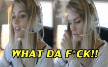 สาวโชว์ไลฟ์ จุดไฟแช็คเล่น ไม่รู้ตัวก่อนอุทานลั่น WHAT DA F*CK!!