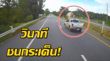 สลดใจ! ไม่ใช่วัวชน แต่ชนวัว รถเสยลอยกระเด็นกลางถนน เตือนใจคนเลี้ยง! (คลิป)