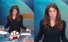 นักข่าวสาวพลาดอย่างแรง หวอออกกลางรายการสด!! คนดูถึงกับตาค้าง!! (คลิป)