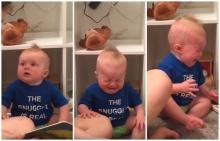 ยังม่ายโจบ!! คลิปน่ารักของหนูน้อย รักการอ่าน จะร้องไห้ทุกครั้งเมื่อเรื่องในนั้นจบลง(คลิป)