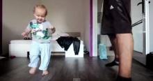 น่ารักเวอร์! เบบี๋ดวลเต้นฮิพฮอพกับคุณพ่อ