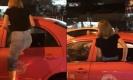 สุดฮา!นินจาสาวปีนหน้าต่างเข้าแท็กซี่ หลังน้ำท่วมกรุงฯ