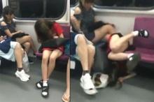 ลั่นเลย!! สาวๆไม่เป๊ะจริงอย่าริอาจนอนบนรถไฟไม่งั้นจะเป็นแบบนี้?