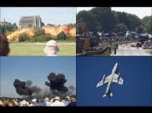 คลิปวีนาทีสยอง ! เครื่องบินผาดโผนดิ่งลงพื้นระเบิดตูม!