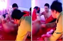 ช็อกตาตั้ง! แขกงานแต่งเมืองจีนบุกจับ เจ้าสาว แก้ผ้า ยุเจ้าบ่าว เล่นหนังสด โชว์แขก!! (คลิป)