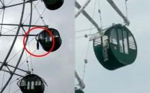 สุดหวาดเสียว!! เด็กชายปีนเล่นซน ตัวหลุดจากชิงช้าสวรรค์ 40 เมตร ห้อยคอต่องแต่งกลางอากาศ (มีคลิป)
