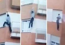 ซ็อก!!ลืมกุญแจห้อง ปีนเข้าหน้าต่างสุดท้ายตกตึกตาย!!
