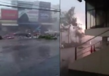 อย่างน่ากลัว!!คลิปพายุรุนแรงถล่มเมืองอุดร!!