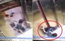 สยอง!! สาวจ้องมือถือไม่ทันเห็นลิฟท์รวน เลยสะดุดล้มถูกหนีบก่อนตัดขาขาด!! (คลิป)