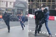 ประทึก หนุ่มอังกฤษโดดล็อกคอ สู้โจรถือดาบ หลังปล้นร้านเพชรหมาดๆ