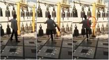 คลิปแฉนักท่องเที่ยวจีน(อีกแล้ว) ใช้เท้าถีบระฆังในวัดพระธาตุดอยสุเทพ !!
