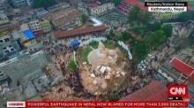 โดรน บินเหนือกรุงกาฐมาณฑุสำรวจความเสียหายเหตุแผ่นดินไหวเนปาลครั้งใหญ่