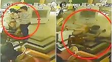 พนักงานโหด!!! เทน้ำร้อนราดหัวลูกค้าสาวกลางร้านอาหาร!!!