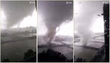 นาทีระทึก! พายุหมุนถล่มจีน เสียชีวิตแล้ว 3 ราย เจ็บเกือบ 100