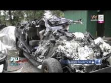 สยองรถเหินข้ามเกาะกลางชนรถชาวบ้านตาย 6 ศพ