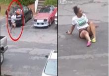 สายโหด!!เมียจับได้ผัวนอกใจ ถอยรถทับกิ๊กขาหักสยอง!!