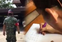 เงิบ!!ป้านั่งจดหวยไม่รู้ชะตากรรม ทหารบุกมาถึงบ้าน