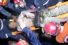 รอดตายปาฏิหาริย์!! นาทีชีวิต!! กู้ภัยตุรกี ช่วยหนุ่มติดซากตึกเนปาล