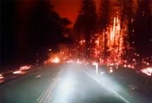 นาทีระทึก!! ขับรถหนีออกจากไฟป่า ที่แคลิฟอร์เนีย!!