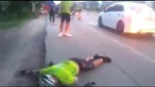 คลิปชัดๆ !! ฆาตกรบนถนน สาวเมาแล้วขับ  ชนนักปั่นดับ 3 ราย
