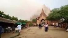 คลิประทึก แผ่นดินไหวแถวเจดีย์แห่งหนึ่งประเทศพม่า