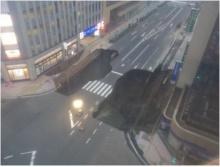 สะพรึงหลุมใหญ่มาก! แผ่นดินยุบ ที่ฟุกุโอกะ ประเทศญี่ปุ่น (ชมภาพและคลิป)