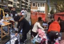 ชุลมุน!!ชาวเมืองแห่ขโมยน้ำที่เหลือจากงานวิ่งมาราธอน!!
